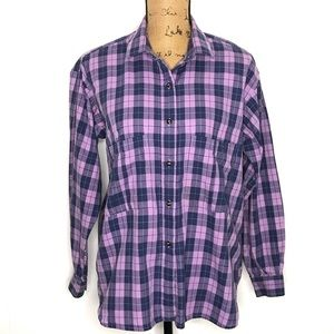 Patagonia Woman's L/S Plaid Button-Up Shirt-Size M